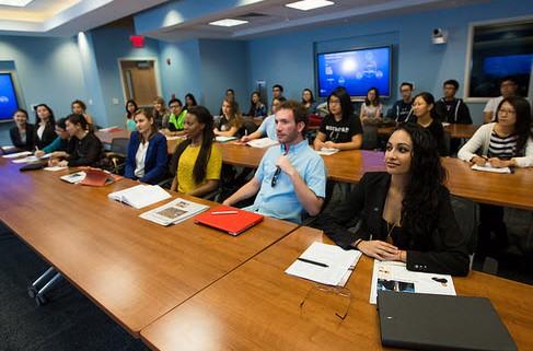 image of students at Presentation Workshop