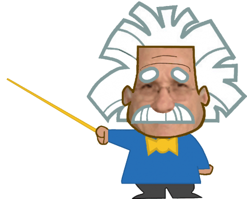 Image of Dr. Salas Einstein 404 page Caricature