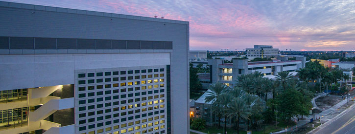 image of Building AHC4 at Sunset
