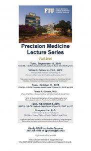 Event flyer of Precision Medicine Lecture Series Fall 2016