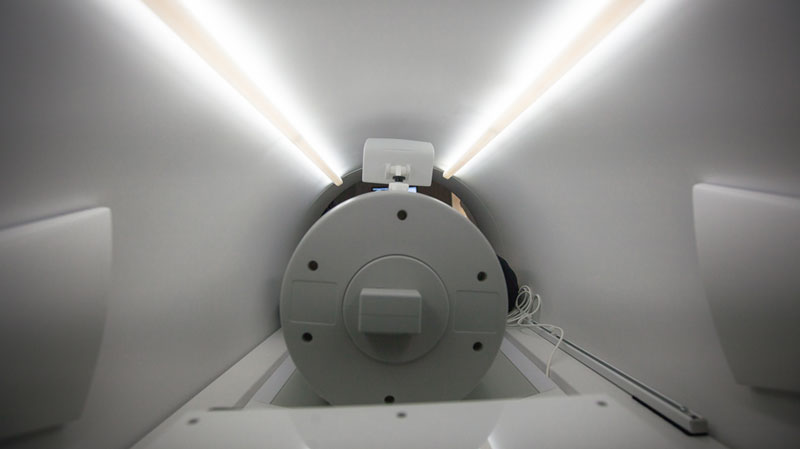 interior view of MRI machine